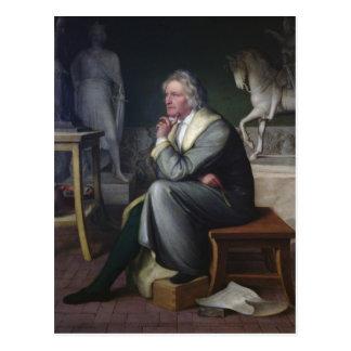Carte Postale Bertel Thorvaldsen dans son studio à Rome, 1834