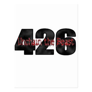 Carte Postale bête 426 Mopar Hemi