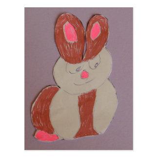 Carte Postale Betty le lapin