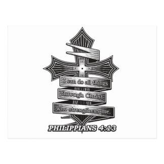 Carte Postale Bible de chrétien de 4h13 de Philippiens d'édition