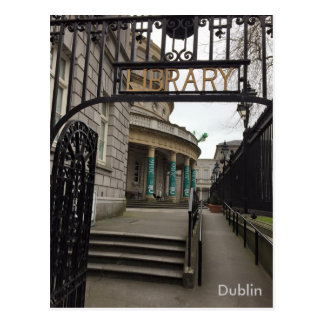 Carte Postale Bibliothèque nationale de l'Irlande, Dublin,