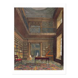 """Carte Postale Bibliothèque universitaire d'Eton, de la """"histoire"""
