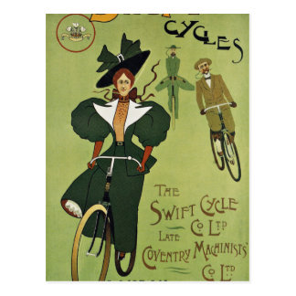 Carte Postale Bicyclette de cru d'équitation de fille
