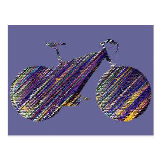 Carte Postale bicyclette - faisant du vélo + vélo