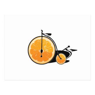Carte Postale Bicyclette orange