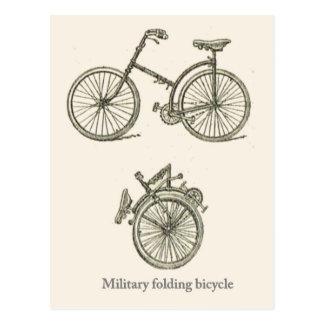 Carte Postale Bicyclette se pliante militaire française