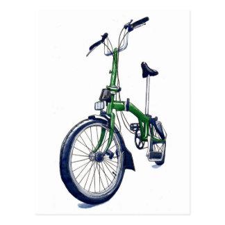 Carte Postale Bicyclette verte de Brompton