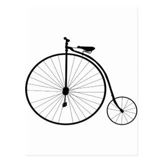 Carte Postale Bicyclette victorienne d'ère de quart de penny de