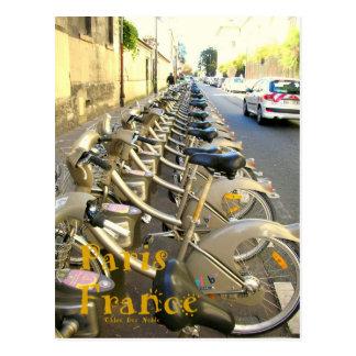 Carte Postale Bicyclettes de Paris