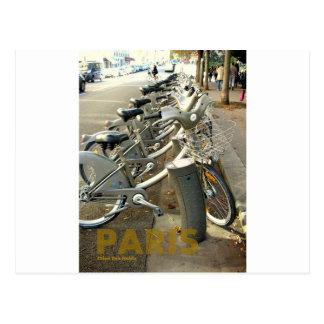 Carte Postale Bicyclettes de Paris France