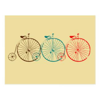 Carte Postale Bicyclettes de quart de penny de penny