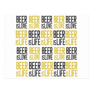 Carte Postale bière-être-amour-bière-être-vie-motif