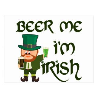 Carte Postale Bière je, je suis irlandais