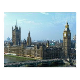 Carte Postale Big Ben et Chambres du Parlement - Londres