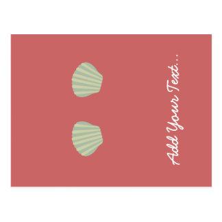 Carte Postale Bikini vert de sirène