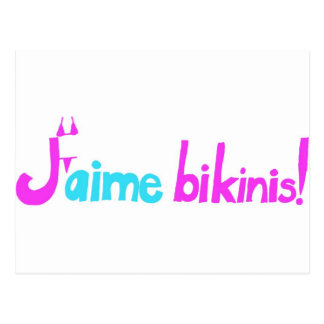 Carte Postale Bikinis de J'aime !