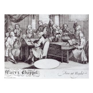 Carte Postale Billet de concert pour la chapelle de Mary