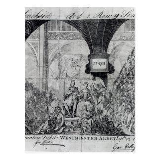 Carte Postale Billet pour le couronnement de George III