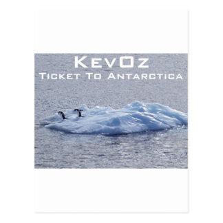 Carte Postale Billet vers l'Antarctique, par KevOz