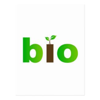 Carte Postale Bio symbole des textes de concept amical d'eco