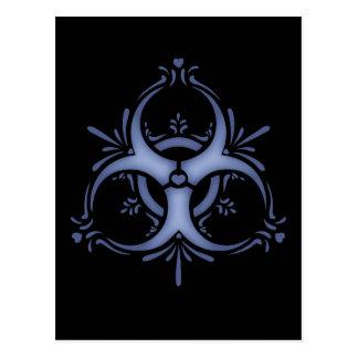 Carte Postale Biohazard bleu de Delft