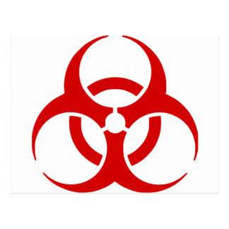 Carte Postale biohazard ! danger d'avertissement