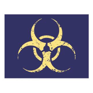 Carte Postale Biohazard - dist - jaune