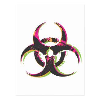 Carte Postale Biohazard grunge