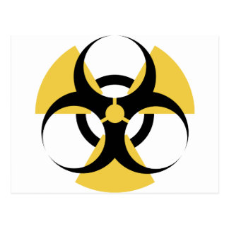 Carte Postale Biohazard radioactif