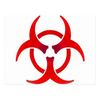 Carte Postale Biohazard - ROUGE