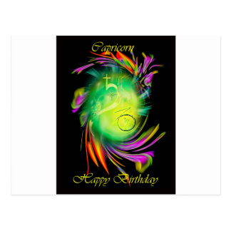 Carte Postale Birthday Capricorn contents
