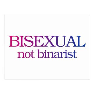 Carte Postale Bisexuel, pas binarist