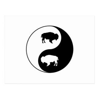 Carte Postale Bison de Yin Yang