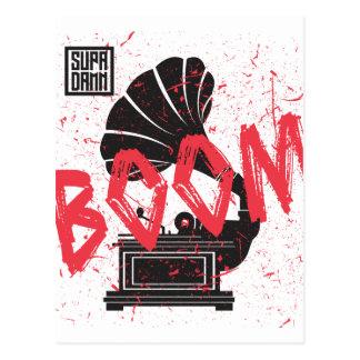 Carte Postale Blanc de phonographe de boom