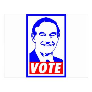 Carte Postale Blanc du vote 2012 de Ron Paul et bleu rouges