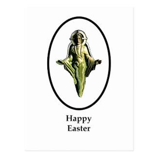 Carte Postale Blanc heureux de Cantorbéry d'image de Pâques le