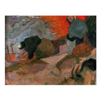 Carte Postale Blanchisseuses par Paul Gauguin