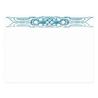 Carte Postale Bleu de la frontière 1