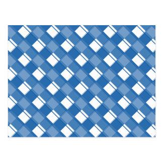 Carte Postale Bleu d'éblouissement du plaid 3