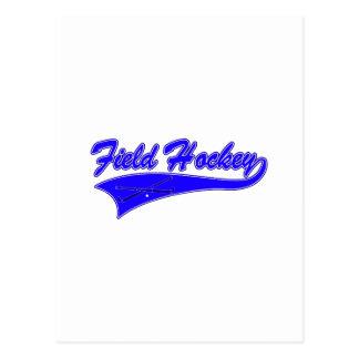 Carte Postale Bleu d'hockey de champ
