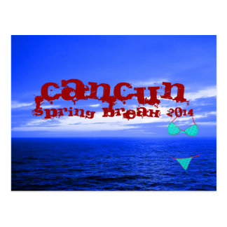 Carte Postale Bleu d'océan de coupure de ressort de Cancun