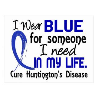 Carte Postale Bleu pour quelqu'un j'ai besoin de la maladie de