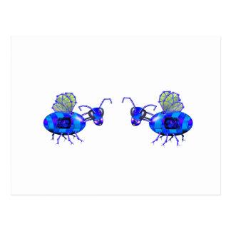 Carte Postale bluebees de steampunk