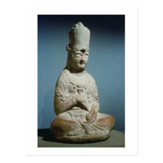 Carte Postale Bodhisattva posé de Hansong-SA, Corée, 10ème cent