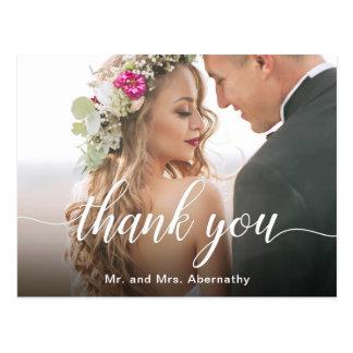 Carte Postale Boho a inspiré le Merci de photo de mariage
