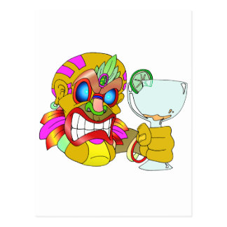 Carte Postale Boire de Tiki