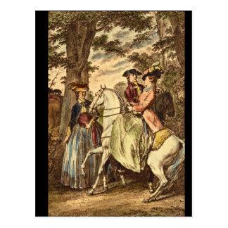 Carte Postale Bois de Boulogne_Engravings de Recontreau de La