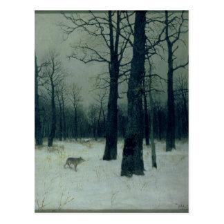 Carte Postale Bois en hiver, 1885