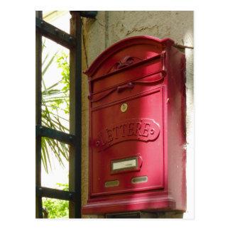 Carte Postale Boîte aux lettres rouge