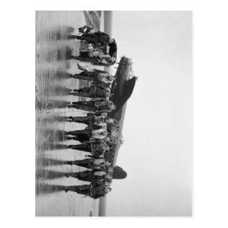 Carte Postale Bombardier RAF de Lancaster de l'équipage aérien